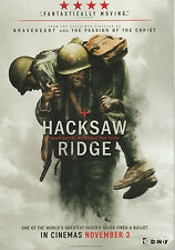 Promotional Movie Flyer - HACKSAW RIDGE (2016) ***Mel Gibson, Andrew Garfield***