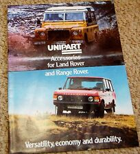 Land Rover Series Accessories PTO Capstan Hydraulic Winch Sales Brochure 1982