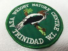 """ASA WRIGHT NATURE CENTRE TRINIDAD TOBAGO W.I. BIRD NATURE WILDLIFE PATCH 3-3/4"""""""