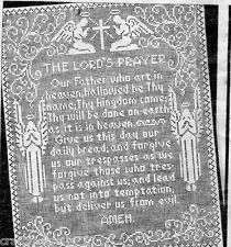 2781 The Lord's Prayer Angels Filet Vintage Crochet Pattern