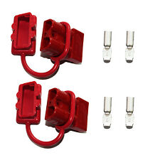 Battery Red Quick Connect Disconnect Plug 50A 6AWG Winch Trailer Boat Connector