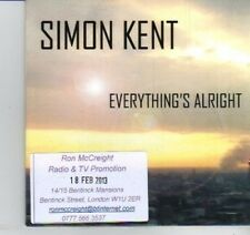 (DI833) Simon Kent, Everything's Alright - 2013 DJ CD