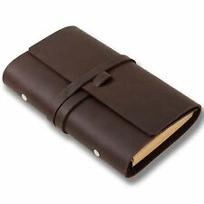 Ancicraft Leather Journal Refillable with Strap 3.75 X 6.75 Inches A6 Blank Gift