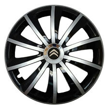 4x15 Wheel trims Wheel covers fit Citroen C4 Cactus black - silver new