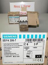 Siemens 5SJ4306-7 Leistungsschutzschalter 5SY43 MCB circuit Breaker C 6A 3P