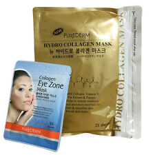 [SET] Purederm Gold Hydro Collagen Mask 1Pack 25Sheet + Eye Zone Mask 30Sheet