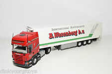 TEKNO SCANIA R420 R 420 TRUCK WITH FRIDGE TRAILER WEZENBERG NEAR MINT CONDITION