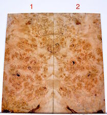 Guitar Luthier MAPLE BURL Head Plate Tonewood Thin Inlay jewlery Wood H85