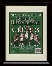 Framed Boston Celtics Championship SI Autograph Replica Print - 2008
