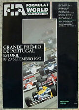 PORTUGUESE GRAND PRIX FORMULA ONE F1 1987 ESTORIL Official Programme