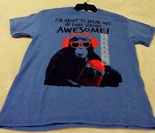 "Monkey Boy's XL ""I'm About To Break Out In Some Serious Awesome"" Royal Heather"