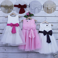 Girls Flower Girl Dress Bridesmaid Formal Dress Party 2 3 4 5 6 7 8 9 10 11 12 Y