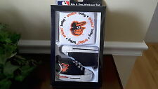 Baltimore Orioles MLB Baby Bib and Pre-Walker Shoes 0-6 mos. with logo Gift Set