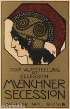 MUENCHNER SECESSION. 1907 Vintage Canvas Print 20x31