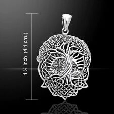 SOLSTICE Tree Pendant .925 Sterling Silver CELTIC World TREE Pagan Wicca Druid
