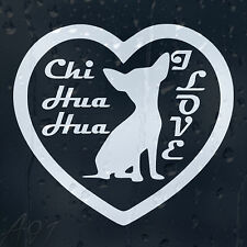 I Love Chihuahua Dog On Board Car Or Laptop Decal Vinyl Sticker For Window Panel