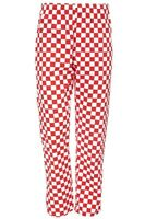 CHEF TROUSERS CHEF WHITES RED AND WHITE CHESSBOARD CHECK CHEF UNIFORM UNISEX