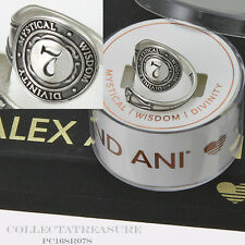 Authentic Alex and Ani Number Seven .925 Sterling Silver SPOON RING