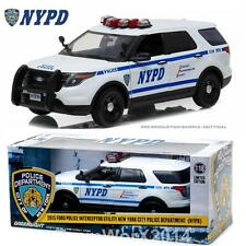 Greenlight 12973 2015 Ford Police Interceptor Diecast Car 1:18 SOLD AS IS