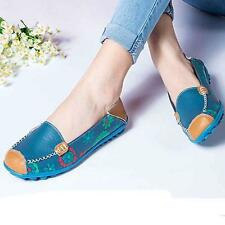 Fashion Women Leather Shoes Loafers Soft Leisure Flats Female Casual Shoes 35