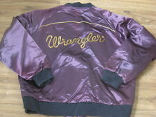 SCARCE VTG WRANGLER/BLUE BELL-1970's RODEO/PROMO/ADVERTISING SATIN JACKET XL