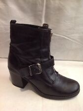 Aldo Black Ankle Leather Boots Size 7