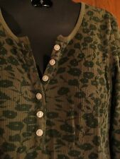 Green Floral Thermal Long Sleeve Shirt BEST alt Bella Swan Twilight