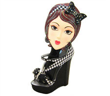 Trendy Girls Hair Brush and High Heel Holder Gift Set - Brunette - Holiday Gift
