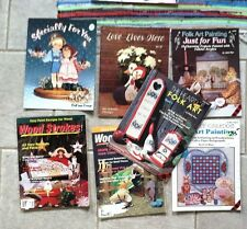 Lot of 7 Painting Books Folk Art Projects Tole Wood Crafts Lewis Lange 1990s