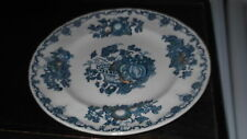MASON'S SALAD PLATE IN BLUE FRUIT BASKET PATTERN   PLATE IS A FACTORY SECOND