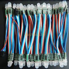 50PCS WS2801 RGB Full Color 12mm Pixels digital Addressable LED String DC 5V