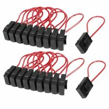 10pcs 30A Blade Fuse Holder Block for Car Boat Wire In-line 22 AWG ATO Standard