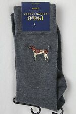 Polo Ralph Lauren Dress Socks Grey Hunting Dog NWT