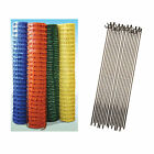 Plastic Barrier Fencing Safety Mesh Fence Netting Net With Metal Pins Options
