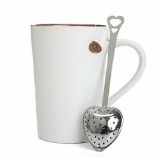 Heart Shaped Stainless Steel Tea Leaf Strainer Herbal Spice Infuser Gift CATS