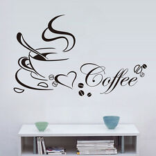 New Removable Kitchen Decor Coffee Cup Home Decals Vinyl Art Wall Sticker