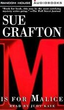M Is for Malice Grafton, Sue Audio Cassette