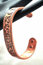 MENS OR LADIES 6.75 INCH 100% COPPER  BANGLE / CUFF: Western Horseshoes 4 Pain!