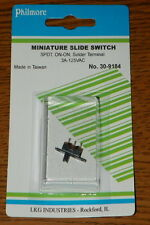 PHILMORE Sub-Miniature .3A 125VAC SPDT ON-ON Tiny slide Switch