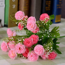Pink Artificial Carnation 23-Head Silk Flower Bouquet Wedding Decor 35cm