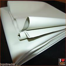 Mattress protector - rubber bed sheet per meter - white - 100cm wide 0.42mm thck