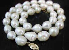 """NEW 8-9mm white freshwater pearl necklace 18""""AAA"""