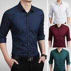 TAT6284 New Fashion Men's Luxury Casual Slim Fit Stylish Dress Shirts 5Colors