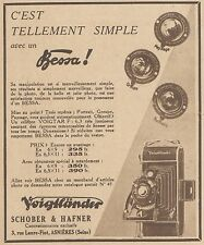 Z8329 VOIGTLANDER Bessa - Pubblicità d'epoca - 1933 Old advertising