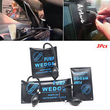 3x Car Pump Wedge Inflatable Shim Air Bag Open Door lock Dent Repair Assist Tool