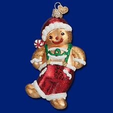 """Frolicking Gingerbread Boy"" (32192) Old World Christmas Glass Ornament"
