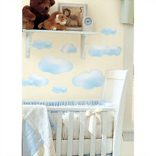CLOUDS wall stickers 19 big decals room decor nursery baby sky puffy blue