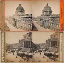 18 Stereofotos, Motive von Berlin um 1870 - 1900, Serie 11