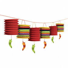 Mexican Fiesta Party Lantern Garland Banner Bunting Decorations Chili Danglers