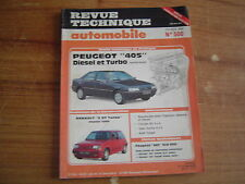 REVUE TECHNIQUE RTA PEUGEOT 405 DIESEL et TURBO DIESEL berline - break